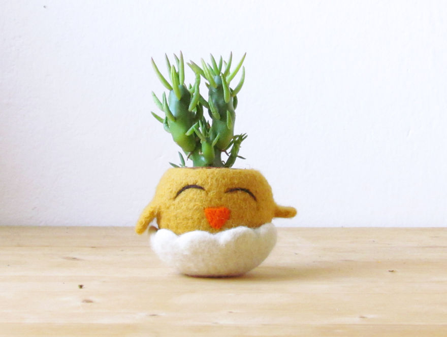 animal planter chick 16
