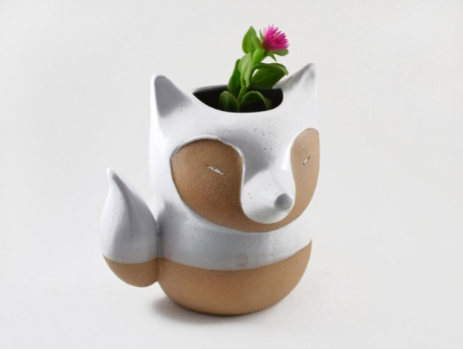 animal planter fox 3