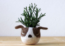animal planter puppy 14 217x155 22 Whimsical Planters Inspired by Exotic Wildlife