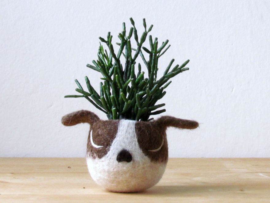animal planter puppy 14
