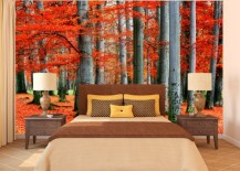 autum mural wallpaper 13 217x155 15 Impressive Wall Mural Ideas That Bring the Outdoors In