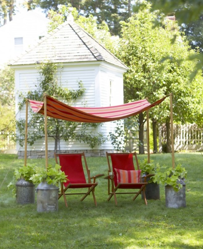 Easy canopy ideas to add more shade to your yard backyard canopy shade 2 solutioingenieria Image collections