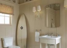 bathroom surfboard stood up 4