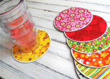 cd coaster 1 217x155 8 Inspiring DIY Ideas for Upcycling Old CDs