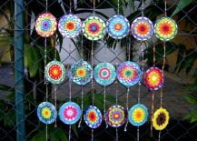 Colorful CD wind chimes