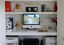 Keeping things clean and organized inside the closet office