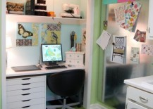 Closet office offers additional storage options