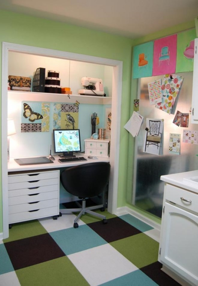 Awesome 15 Closets Turned Into Space Saving Office Nooks Largest Home Design Picture Inspirations Pitcheantrous