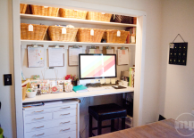 closet office. Well, If You\u0027re Willing To Sacrifice Some Storage Space, Then The Closet Could Be Your Solution. These Closets-turned-offices Maximize Space In Small Rooms Office F