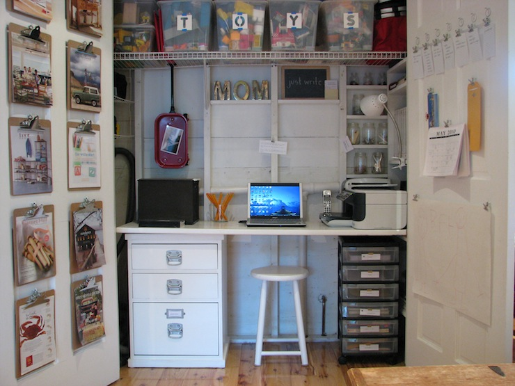 View in gallery closet office space 14 & 15 Closets Turned into Space-Saving Office Nooks