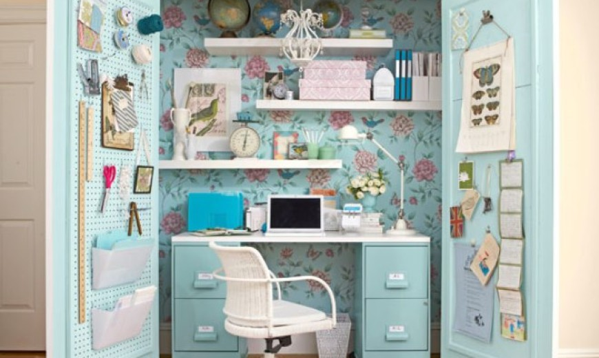 Exceptionnel 15 Closets Turned Into Space Saving Office Nooks
