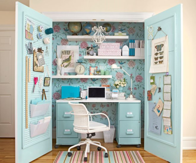 15 closets turned into space saving office nooks view in gallery closet office space 6 solutioingenieria Images