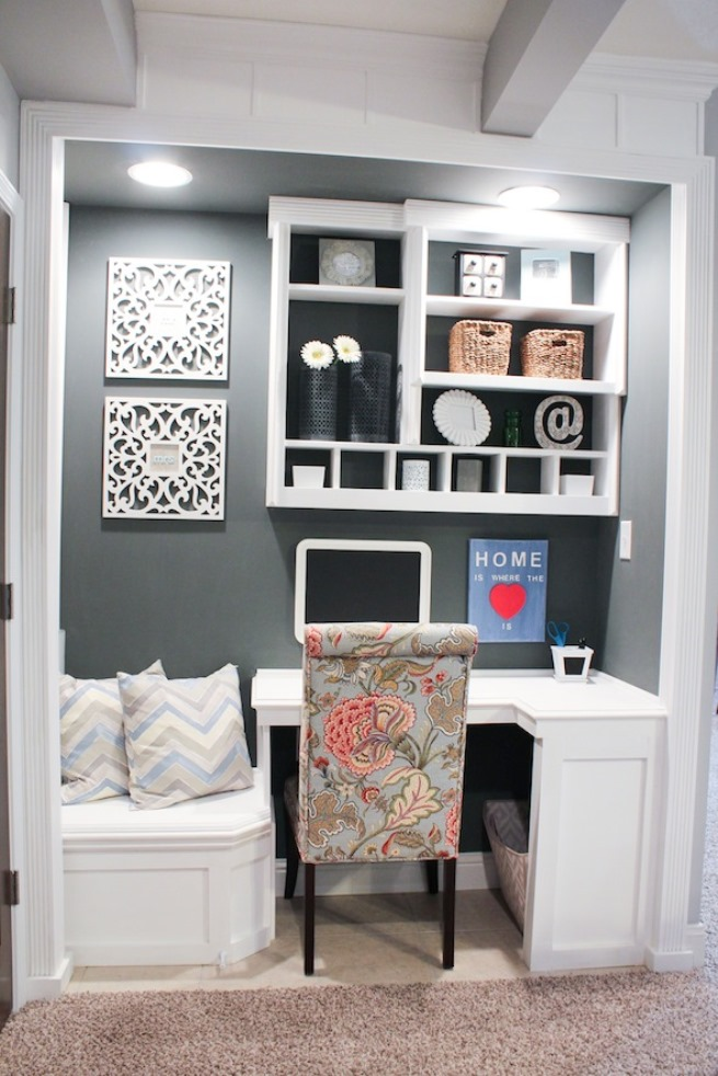 Peachy 15 Closets Turned Into Space Saving Office Nooks Largest Home Design Picture Inspirations Pitcheantrous