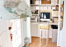 Closet office space makes perfect use of additional space