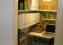 Beautiful lighting option for the small closet office