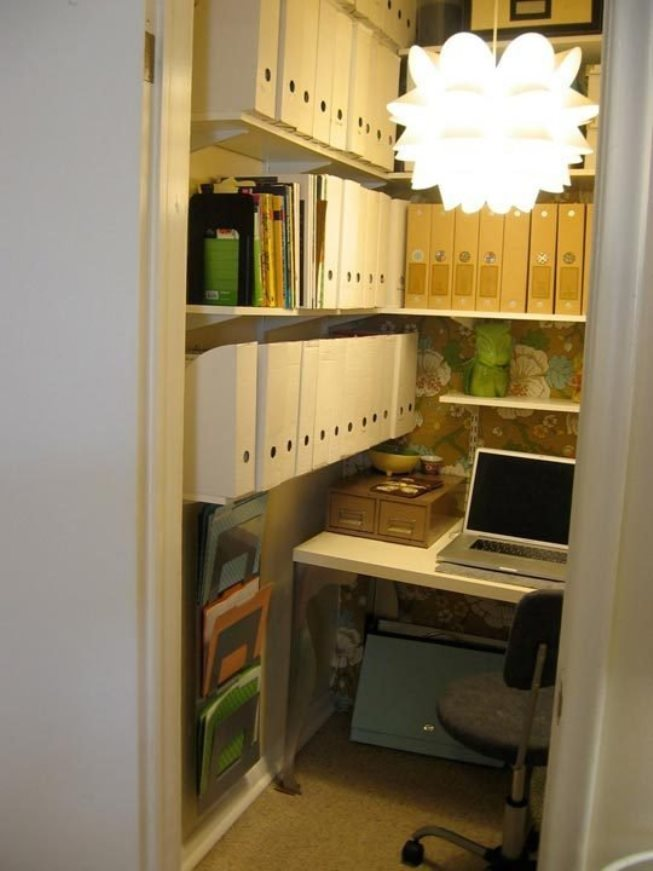 Home office closet ideas Small View In Gallery Closet Office Space Decoist 15 Closets Turned Into Spacesaving Office Nooks