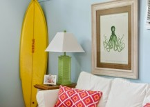 Surfable Wall Art & 16 Beachy Surfboard Decorating Ideas