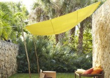 drop cloth canopy shade 15 217x155 Easy Canopy Ideas to Add More Shade to Your Yard