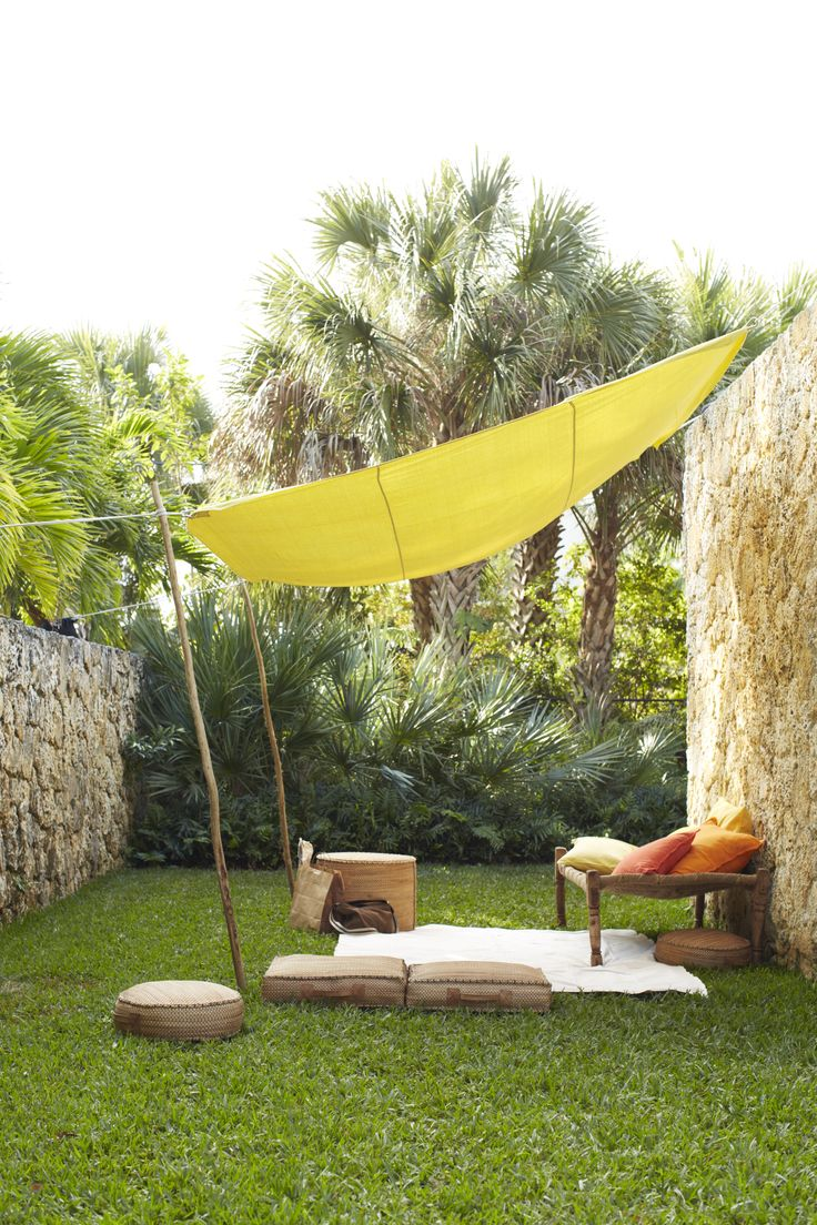 Easy canopy ideas to add more shade to your yard for Jardin deco