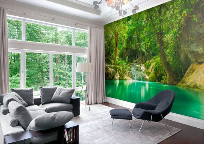 15 impressive wall mural ideas that bring the outdoors in for Murales adhesivos