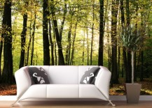 Exciting Spring or summer-themed forest wall mural