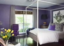 A splash of regal purple for the bedroom!