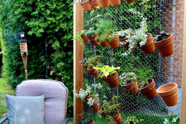 herb garden 14 8 space saving vertical herb garden ideas for small yards - Creative Garden Ideas For Small Spaces