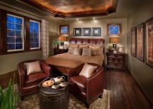 Leather surfaces bring style and ergonomics to the bedroom