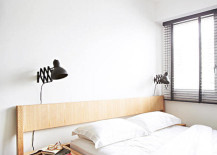 Natural light gives the bedroom an airy appeal