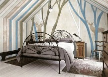 moose woods mural wallpaper 8 217x155 15 Impressive Wall Mural Ideas That Bring the Outdoors In