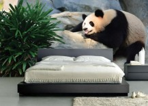 panda bear mural wallpaper 2 217x155 15 Impressive Wall Mural Ideas That Bring the Outdoors In