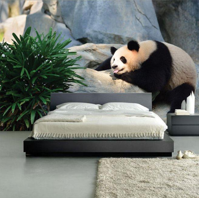 panda bear mural wallpaper 2
