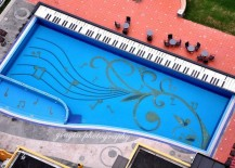 Exquisite pool design inspired by the piano
