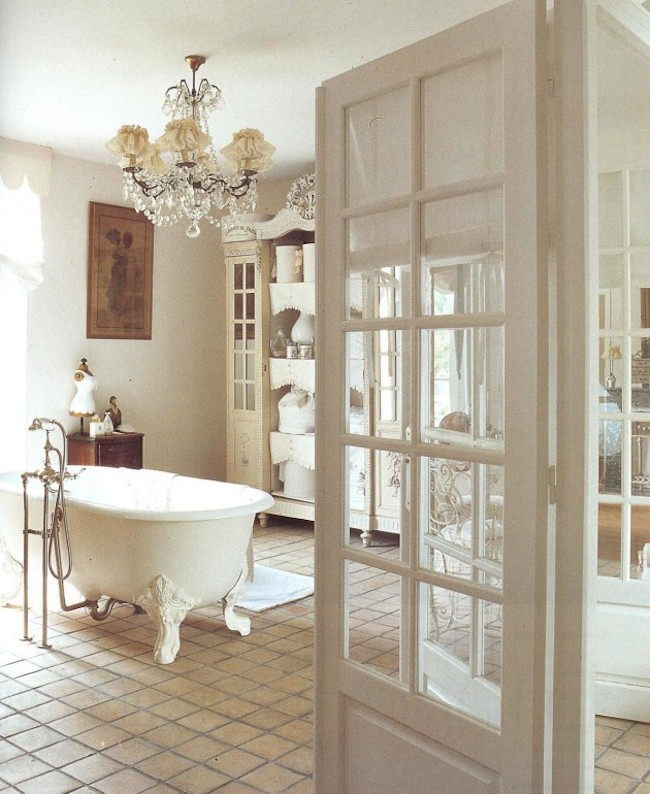 18 bathrooms for shabby chic design inspiration for Chambre style shabby chic