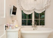 Shabby chic bathroom with a hint of English charm