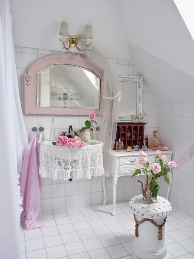 shabby chic bathroom 7