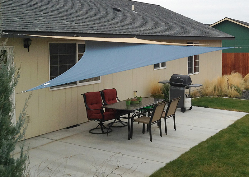easy canopy ideas to add more shade to your yard - Patio Shade Cloth Ideas