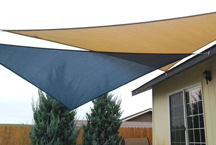 View in gallery shade sail 5 - Easy Canopy Ideas To Add More Shade To Your Yard
