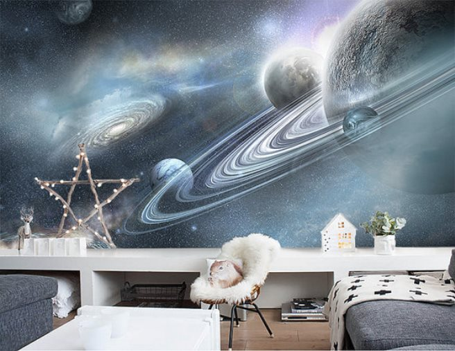 View In Gallery Space Mural Wallpaper 15 Space Themed Wall ... Part 70