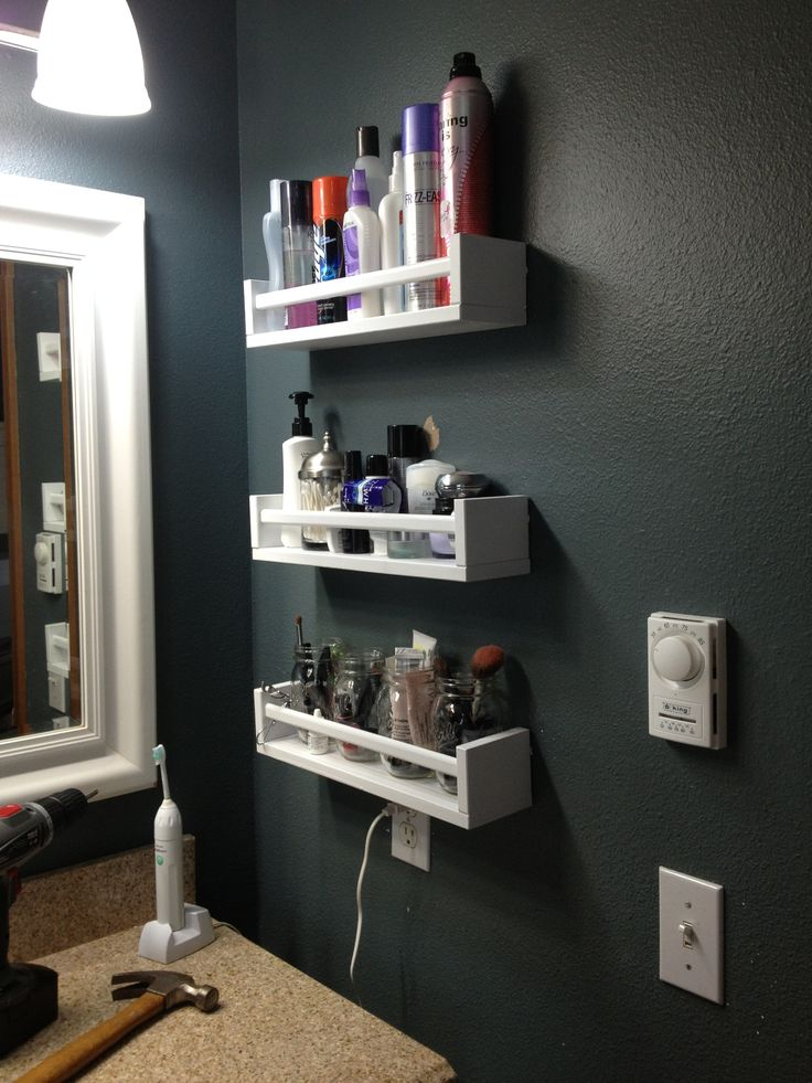spice rack storage small bathroom 1