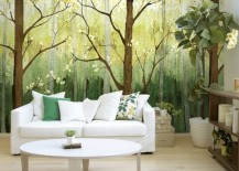 Spring forest wallpaper mural