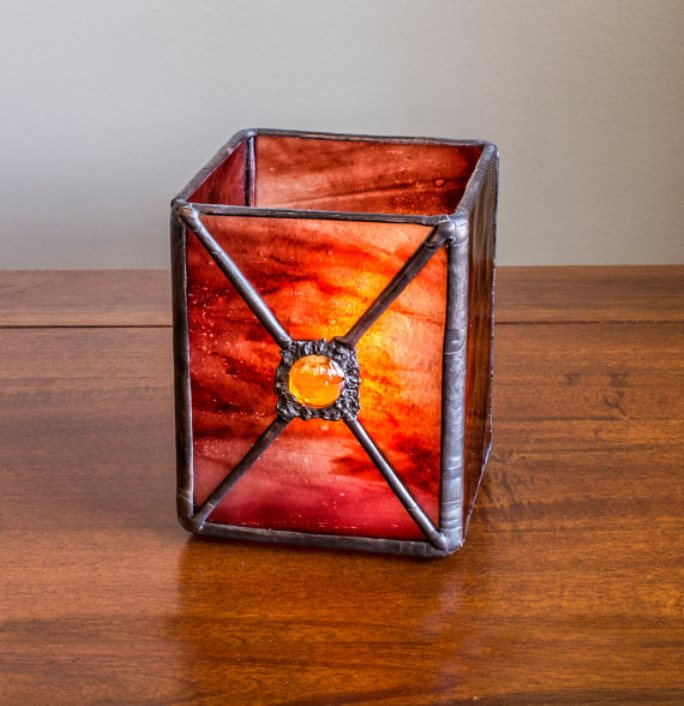 stained glass candle holder 6