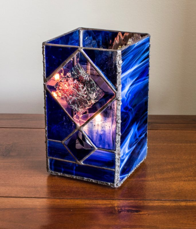 stained glass candle holder 7
