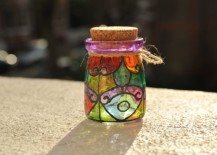 Colorful and classy stained glass jar