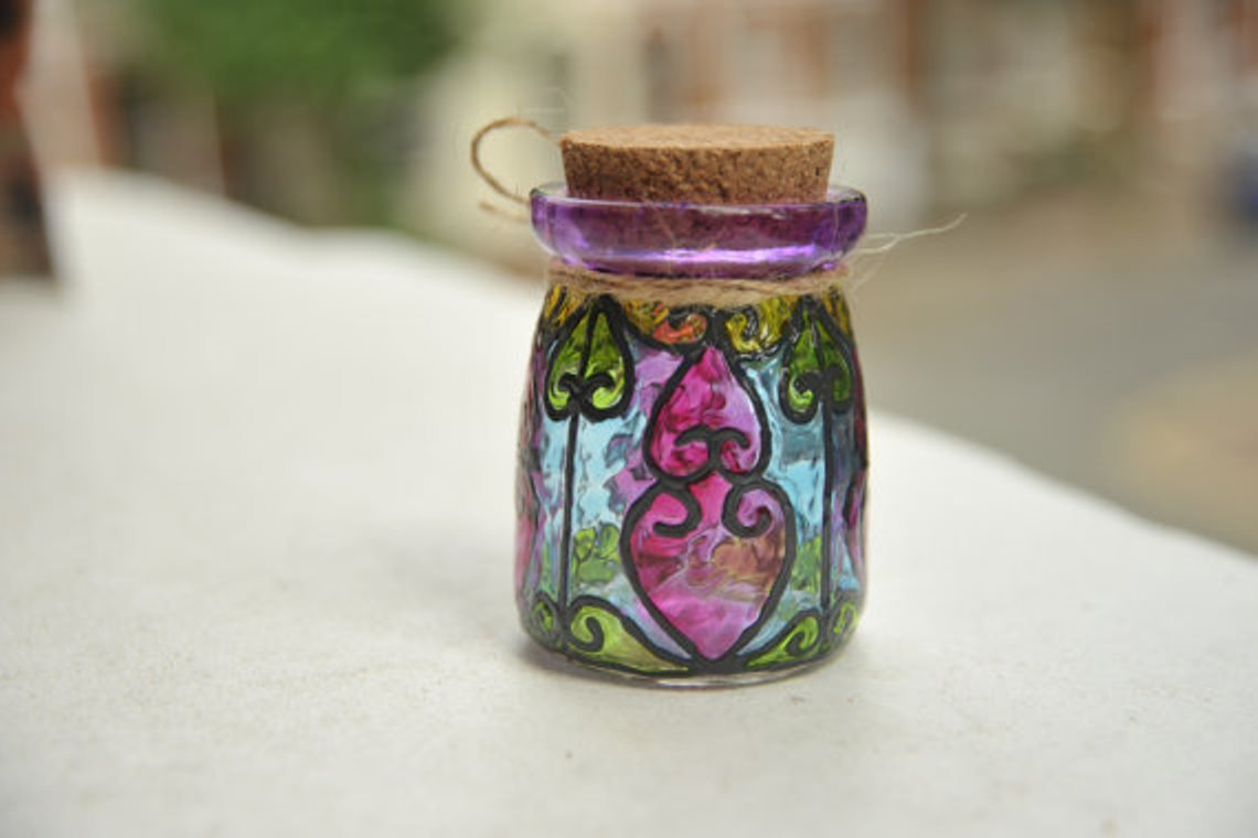stained glass jar 15
