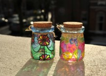 Lovely stained glass jars