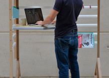 standing desk 9 217x155 8 Design Tips for Standing Desks That Are Versatile Enough for Sitting Too!