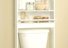 toilet shelf bathroom 8 217x155 8 Brilliant Storage Ideas for Your Small Bathroom