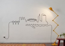 Check Out These Incredible Wall Art Displays Made From Cables And Cords  That Were Lying Around.