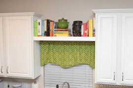 A floating shelf to store books and accessories  15 Unique Kitchen Ideas for Storing Cookbooks A floating shelf to store books and accessories 270x180